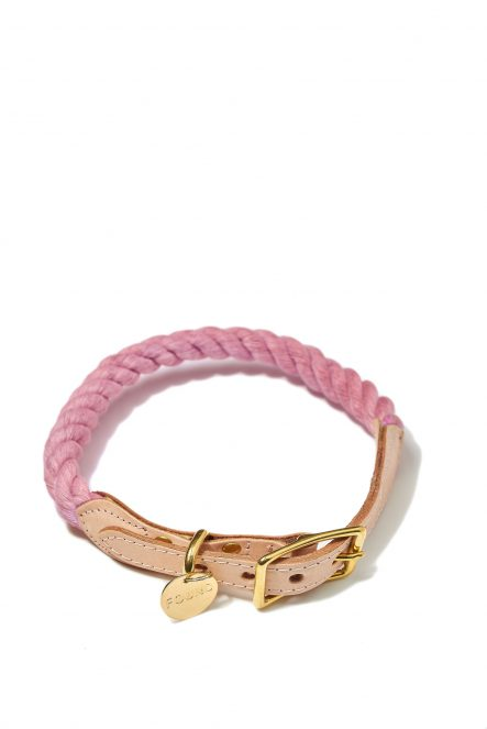 Rope collar_Blush