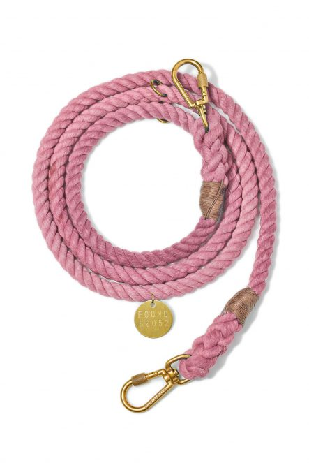 Rope leash_Blush
