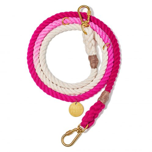 Rope leash_Ombre Magenta